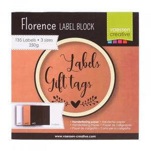 Florence Labelblock 135 blanko Label / Etiketten / Tags