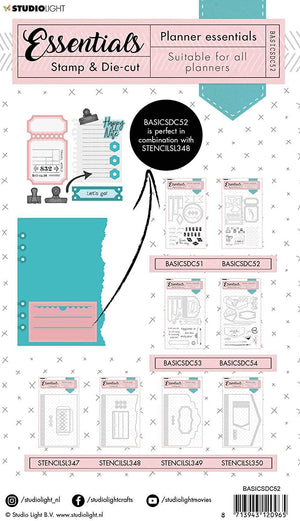 Studio Light • Stamp & Die-cut Essentials Planner nr.52