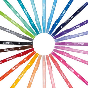 Tombow TwinTone Doppelfasermaler 12er Set Rainbow Colors