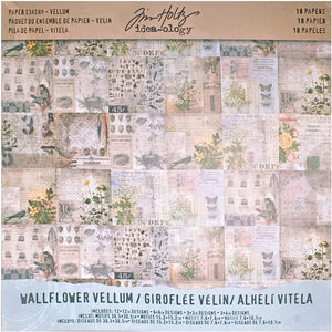 Advantus • Tim Holtz Idea-ology paper stash Vellum wallflower, 18 Blatt