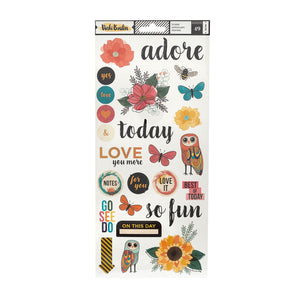 American Crafts • Vicky Boutin Wildflower & Honey sticker 15,2x30,5cm 2pcs