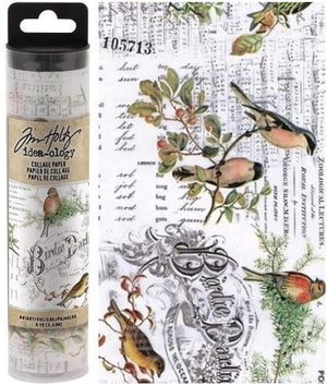 Advantus •  Tim Holtz Idea-ology collage paper  (15.2cm x 5,48m)