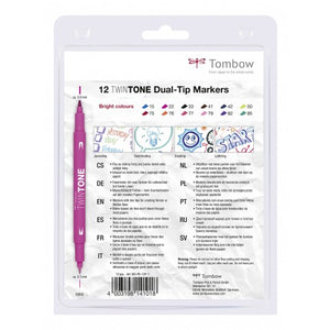 Tombow TWINTONE BRIGHTS Set mit 12 Farben