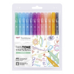 Tombow TwinTone Doppelfasermaler 12er Set Patels Colors