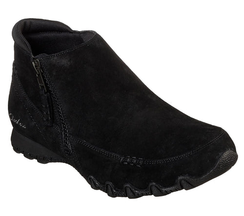 SKECHERS USA INC. BIKER ZIPPER BOOTIE - 44721BLK