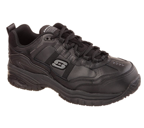 SKECHERS WORK USA INC. SLIP RESISTANT COMP - 77013/BLK