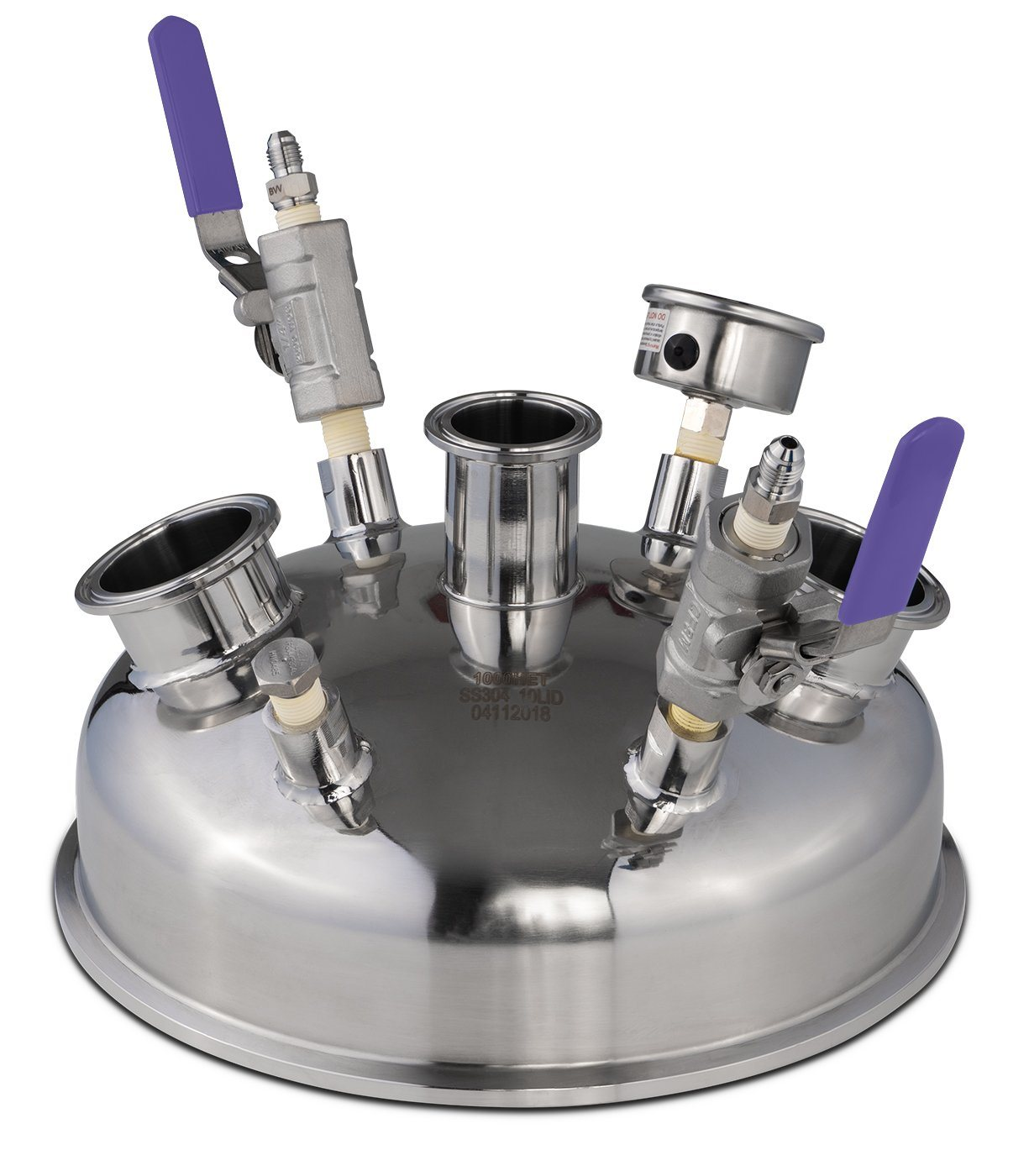 "10"" Pre-Built Hemispherical Lid with BVV 316SS Full Bore Valves Shop All Categories BVV"
