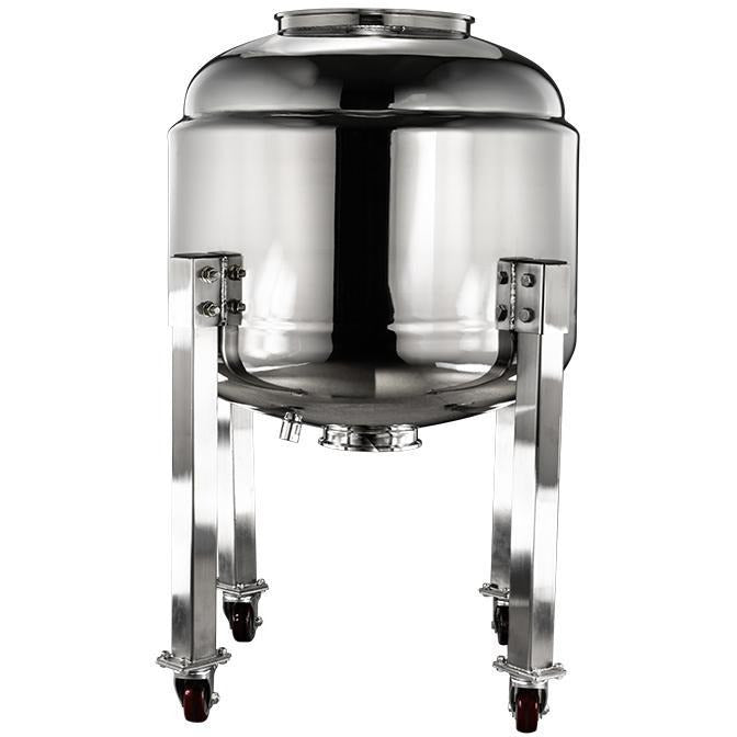 "150L 304SS Jacketed Collection and Storage Vessel with 12"" Tri-Clamp Port and Locking Casters Shop All Categories BVV"