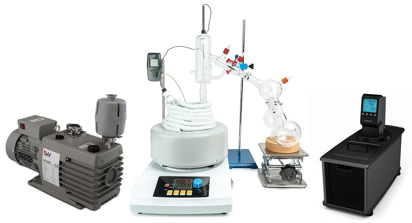 2L Premium Short Path Distillation Turnkey Setup with P2 Distillation Head Shop All Categories BVV