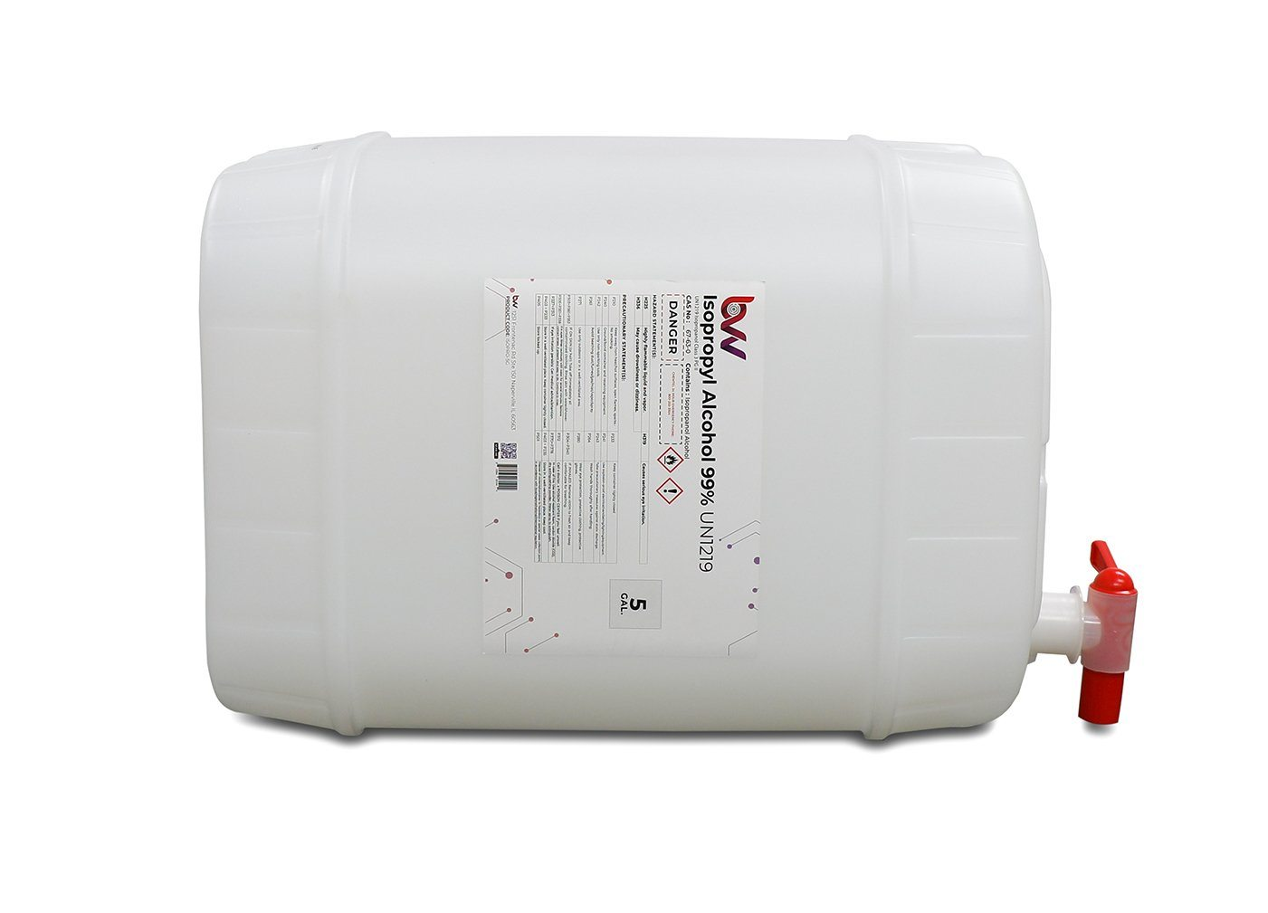 BVV™ High Purity Isopropyl Alcohol 99% - USP-NF Grade 5 gallon