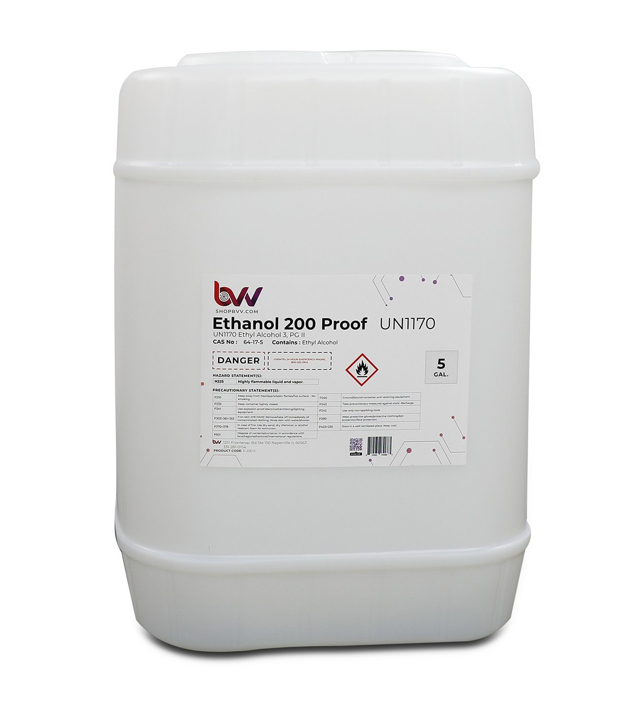 BVV™ Food & Lab Grade Ethanol 200 Proof - 99.97% - USP-NF, Kosher - Excise Tax Included Shop All Categories BVV