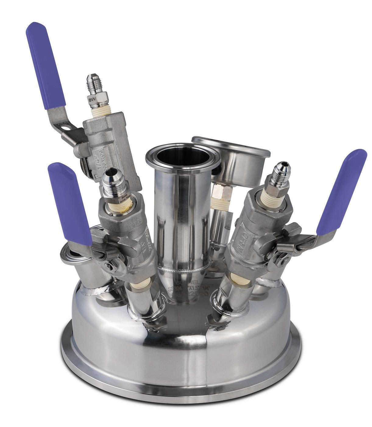 "6"" Pre-Built BIFLOW Hemispherical Lid with BVV 316SS Full Bore Valves Shop All Categories BVV"