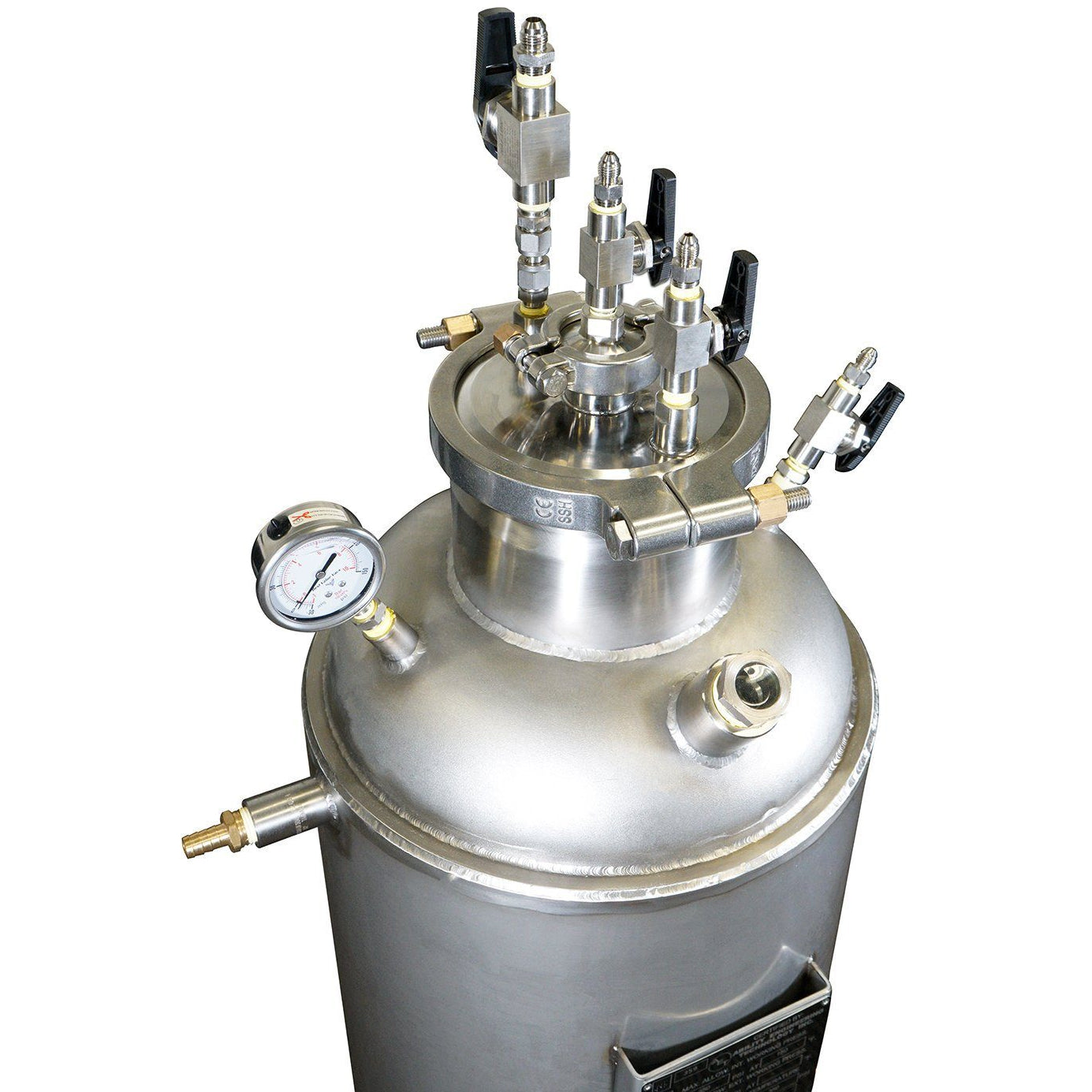 ASME Certified 10LB Jacketed Collection Base 304L with Diptube Shop All Categories BVV