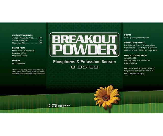 Aptus - Breakout Powder (5 Satchels per Case) Hydroponic Center Aptus