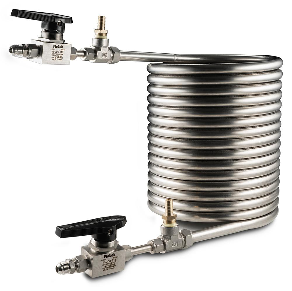 """1//4/"""" FNPT Stainless Steel 304 Condensing Coil 9/"""" x 9/"""" x 15/"""""""