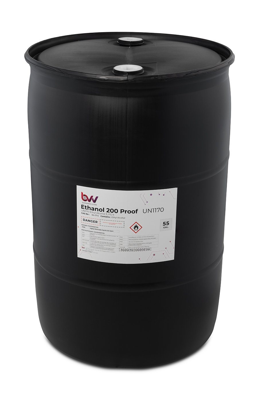 BVV™ Food & Lab Grade Ethanol 200 Proof - 99.97% - USP-NF, Kosher - Excise Tax Included Shop All Categories BVV 55 Gallon Drum