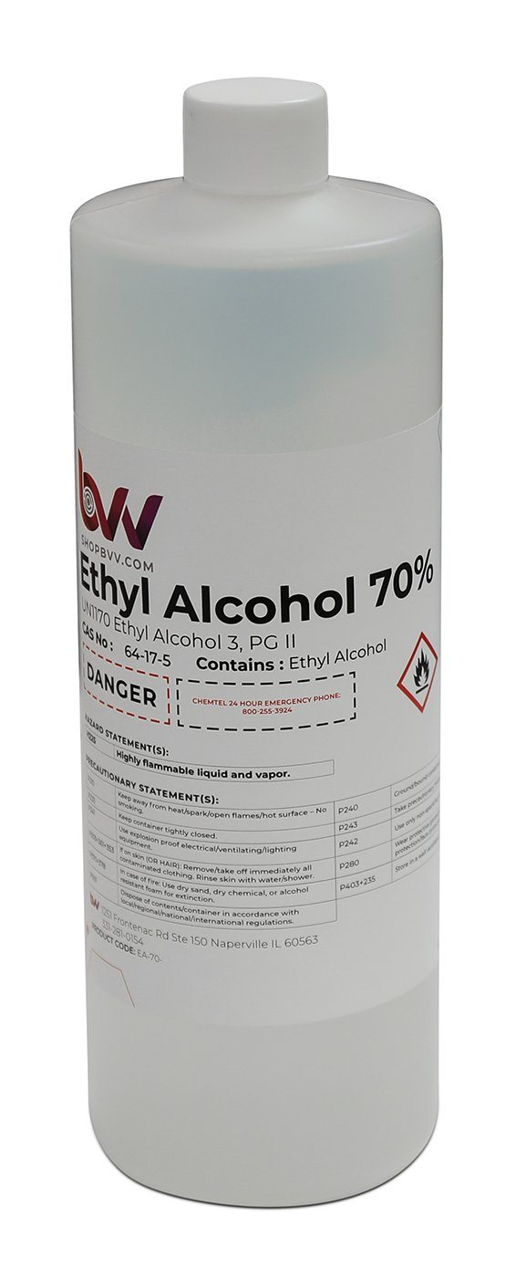 Ethyl Alcohol 70% USP Shop All Categories BVV 1 Quart
