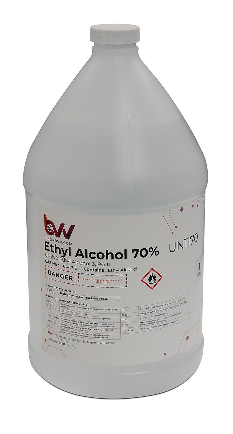 Ethyl Alcohol 70% USP Shop All Categories BVV 1 Gallon