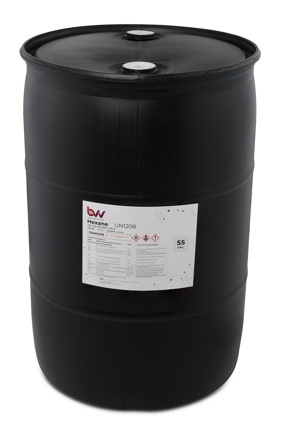 BVV™ High Purity Lab Grade Hexane Shop Brands BVV 55 Gallon