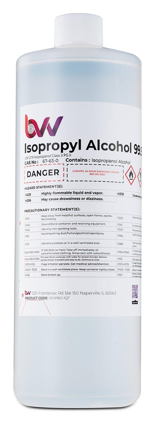 BVV High Purity Isopropyl Alcohol 99% - USP-NF Grade New Products BVV 1 Quart