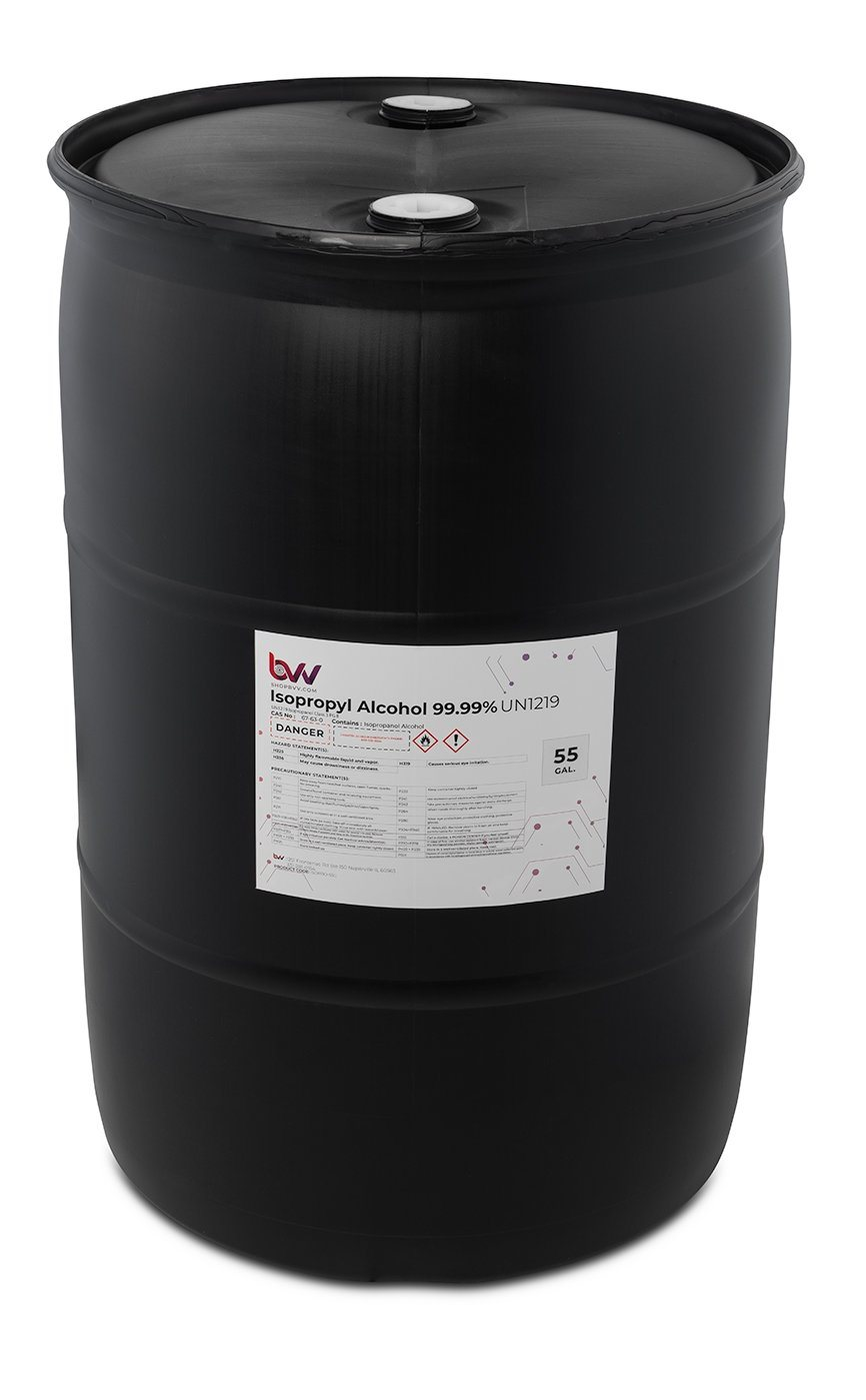 BVV™ High Purity Isopropyl Alcohol 99% USP New Products BVV 55 Gal