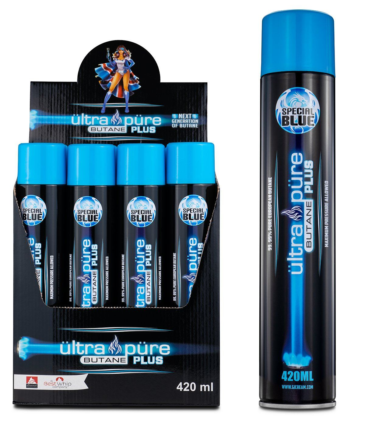 Ultra Pure PLUS 420ML Butane Shop All Categories Ultra Pure PLUS MasterCase - 72 Cans