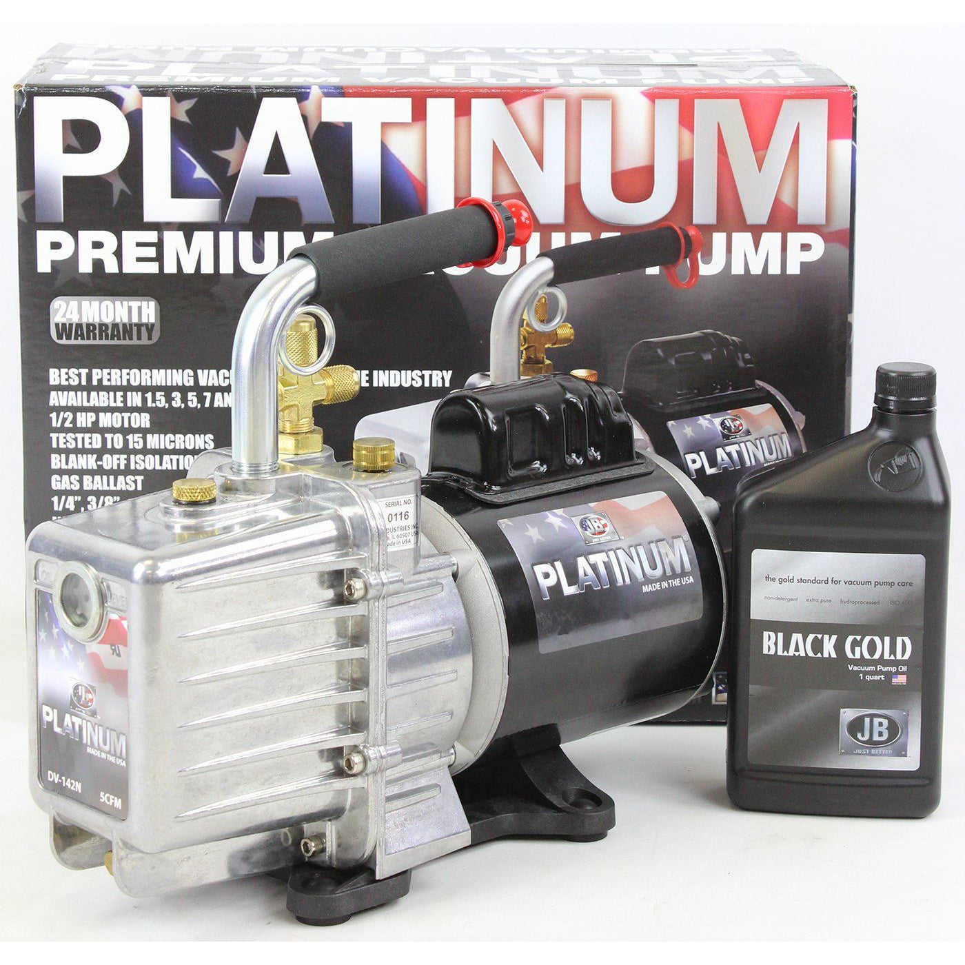 Just Better 10CFM 2 Stage Deep Vacuum Pump - USA Made Shop All Categories JB Industries