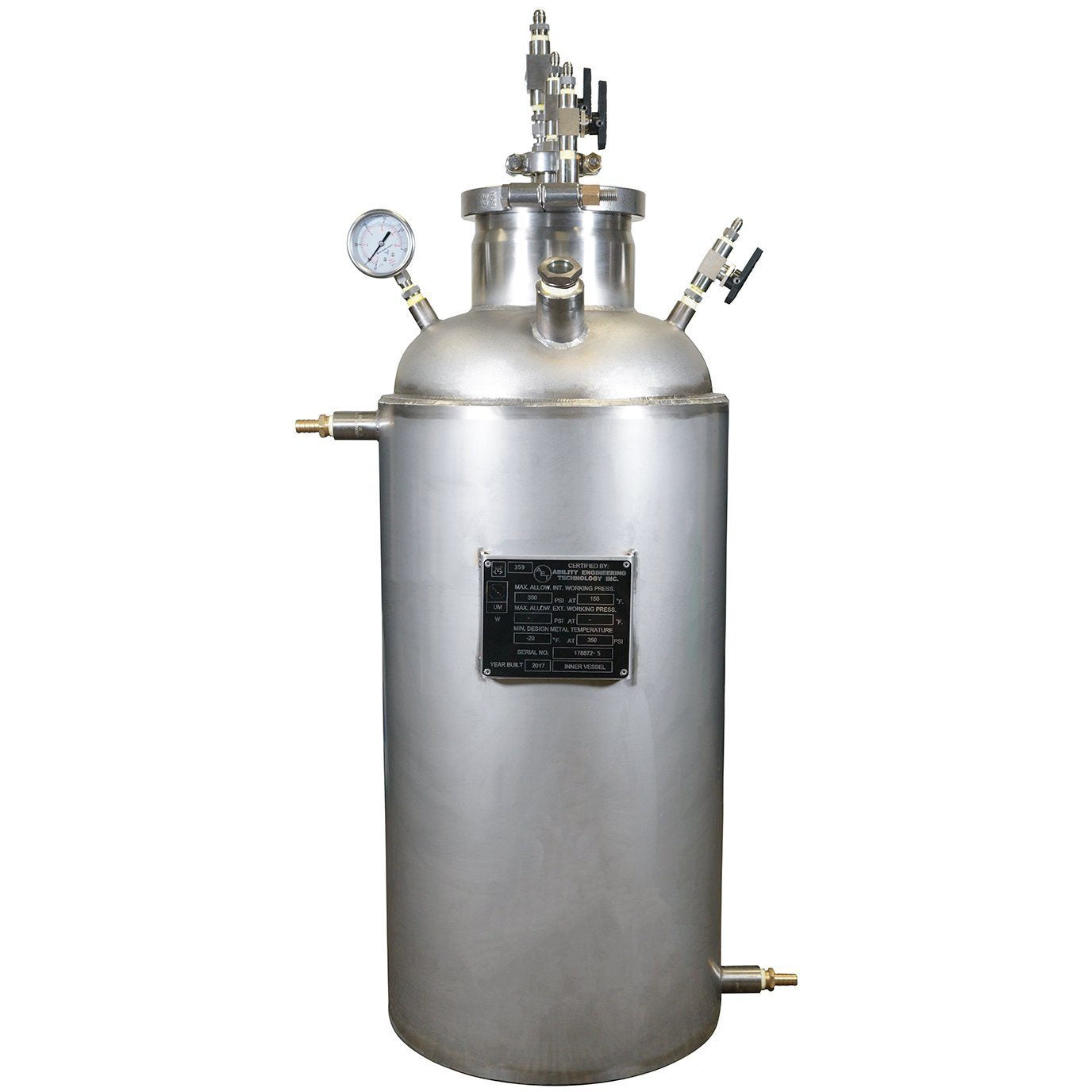ASME Certified 10LB Jacketed Collection Base 304L with Diptube Shop All Categories BVV Default Title