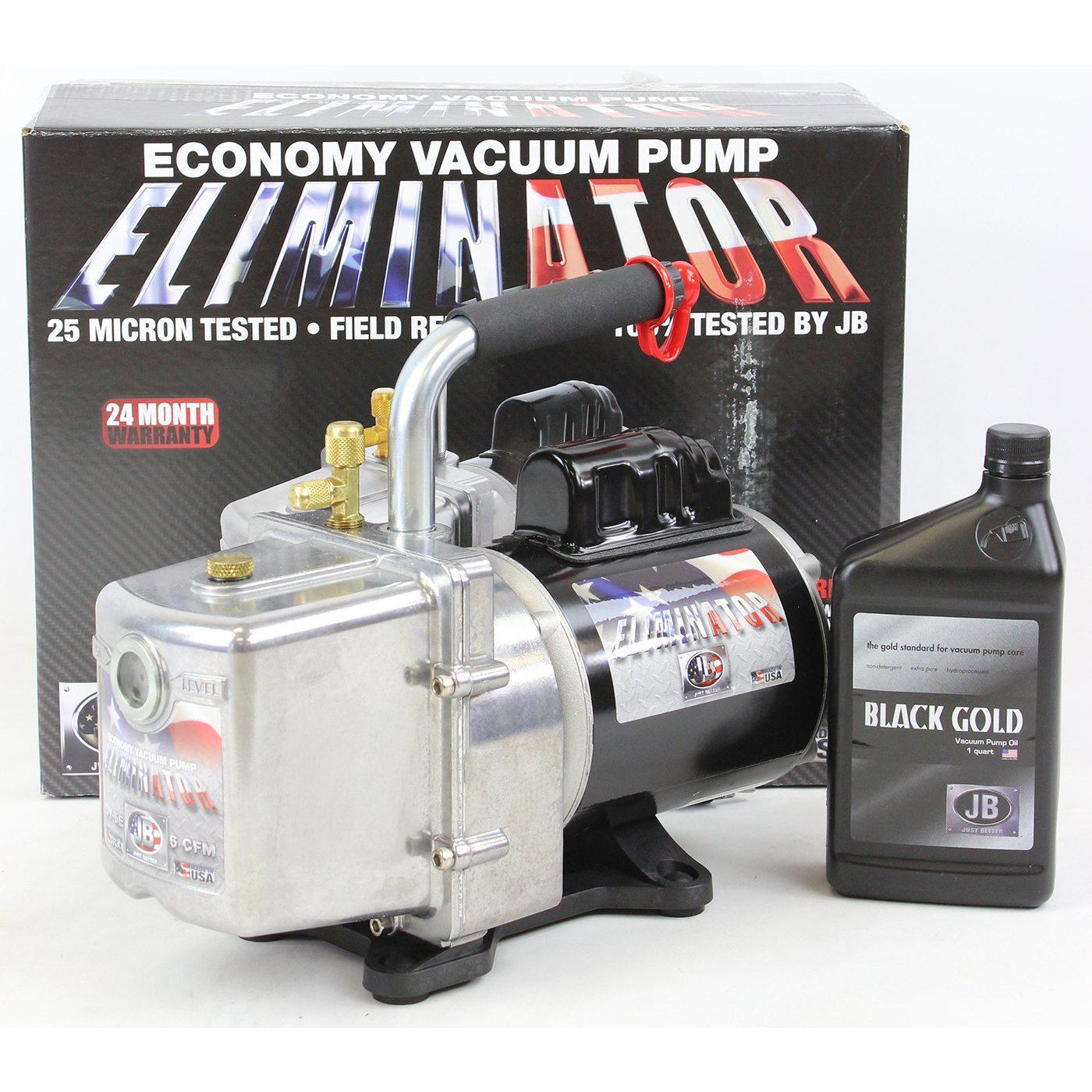 Just Better 6 CFM 2 Stage Deep Vacuum Pump - USA Made Shop All Categories JB Industries
