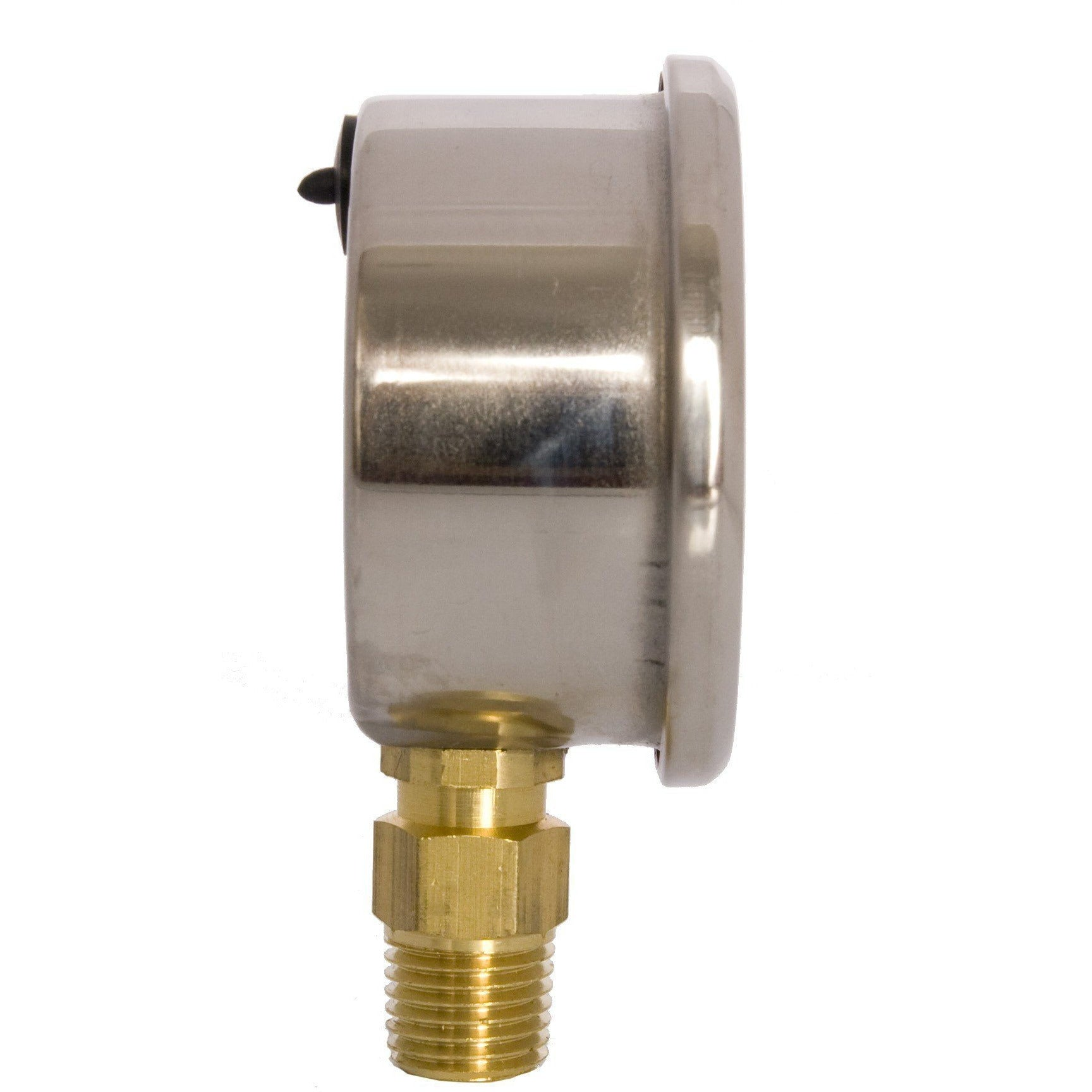 "2-1/2"" Liquid Filled Pressure Gauges - Stainless Steel Case, Brass, 1/4"" NPT, Lower Mount Connection Shop All Categories DuraChoice"