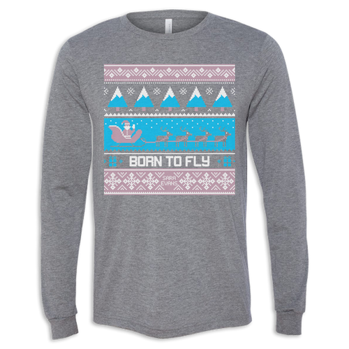 Born To Fly Ugly Sweater Long Sleeve Tee