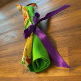 Origami purse - Vibrant Green/ colorful