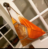 Origami purse - Orange and gold