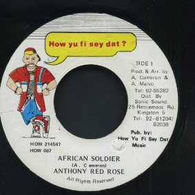 ANTHONY RED ROSE [African Soldier]