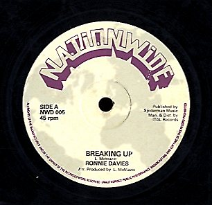 RONNIE DAVIS / RANKING SPANNER [Breaking Up / Natty Dread She Want]