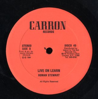 ROMAN STEWART [Live On Learn / My Love]