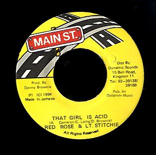 ANTHONY RED ROSE  / LT. STITCHIE  [That Girl Is Acid]