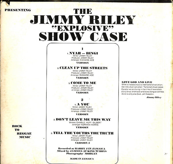JIMMY RILEY [Show Case]