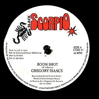 GREGORY ISSACS / COMMANDER SHAD [Boom Shot / Touch Mandella]