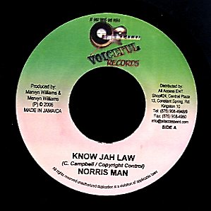 NORRIS MAN / LEAF A LIFE [Know Jah Law / Burn Dem Down]