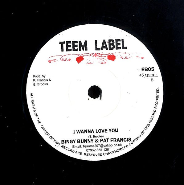 JAH LLOYD / BINGY BUNNY & PAT FRANCIS [Natty Come Yah / I Wanna Love You]