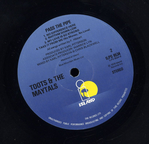TOOTS & THE MAYTALS [Pass The Pipe]