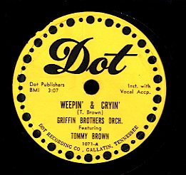GRIFFIN BROTHERS FEATURING TOMMY BROWN / GRIFFIN BROTHERS [Weepin' & Cryin' / Shuffle Bug]