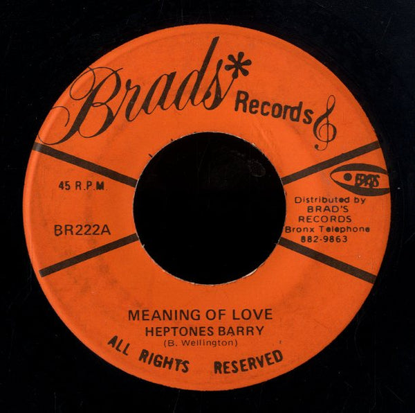 HEPTONE BARRY [Meaning Of Love]