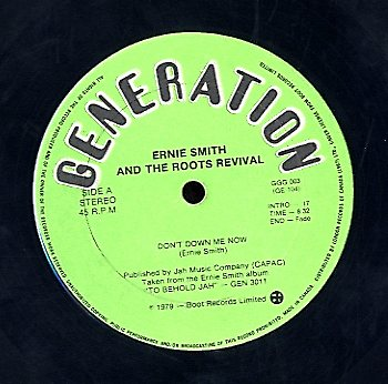 ERNIE SMITH [To Behold Jah / Don't Down Me Now]