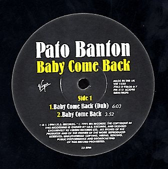 PATO BANTON [Baby Come Back / Niceness (Live) / Gwarn! (New Version)]