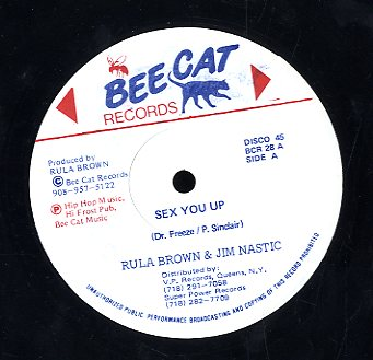 RULA BROWN & JIM NASTIC  / RULA BROWN  [Sex You Up / I Wanna Sex You Up]