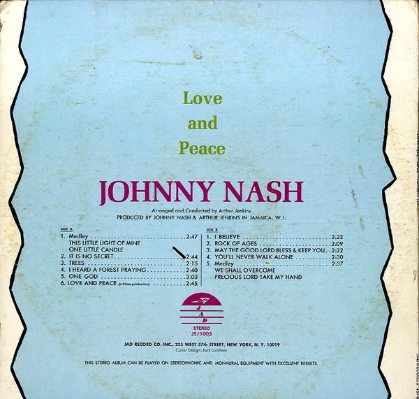 JOHNNY NASH [Love And Peace]