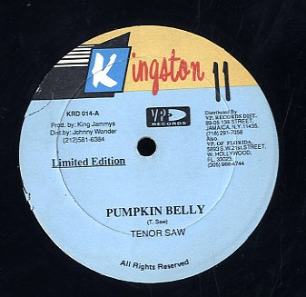 TENOR SAW / JIGSY KING [Pumpkin Belly / Dead Out]