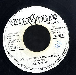 KEN BOOTHE / WAILERS  [Don't Want To See You Cry / I Need You]